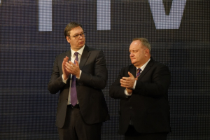 THE PRESIDENT OF THE REPUBLIC OF SERBIA ALEKSANDAR VUCIC ON THE OPENING CEREMONY OF APTIV PACKARD