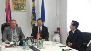 THE CHINESE DELEGATION IN LESKOVAC