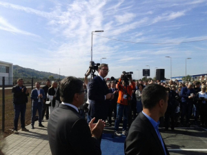 THE PRESIDENT OF SERBIA ALEKSANDAR VUCIC OPENED A FACTORY IN NIS